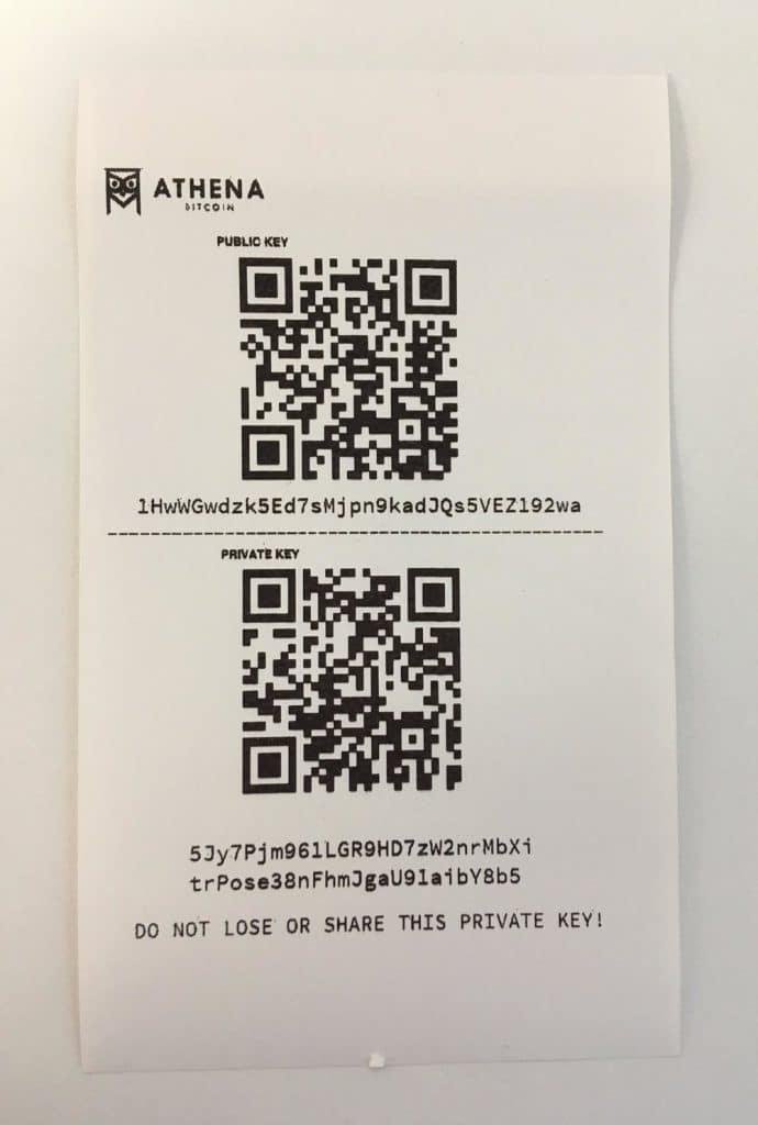 stampante portafoglio di carta bitcoin)