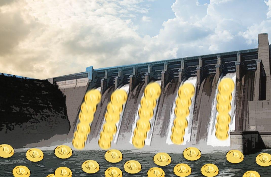 mineração hidrelétrica