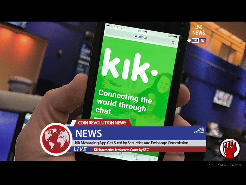 Kik Messaging App Get Sued by Securities and Exchange