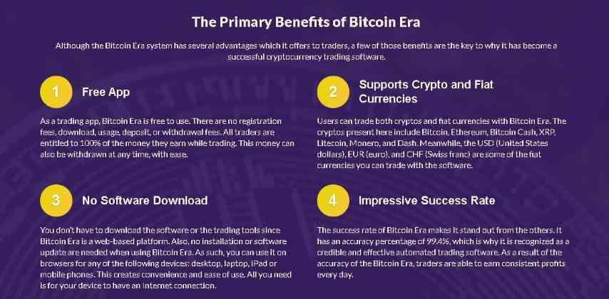 De belangrijkste voordelen van Bitcoin-tijdperk