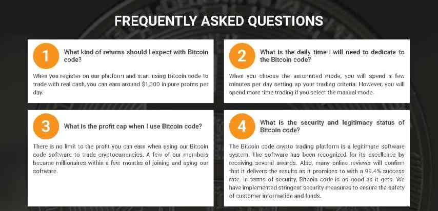bitcoin code faq