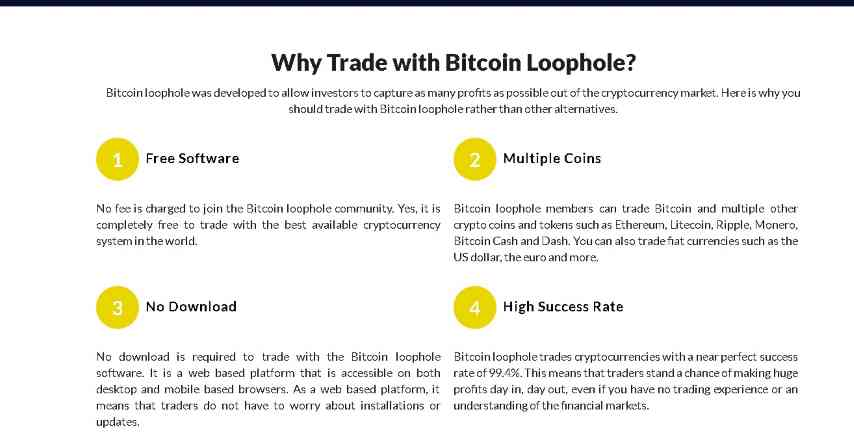 bitcoin loophoe screenshot form home page