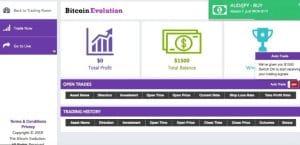bitcoin evolution trade room