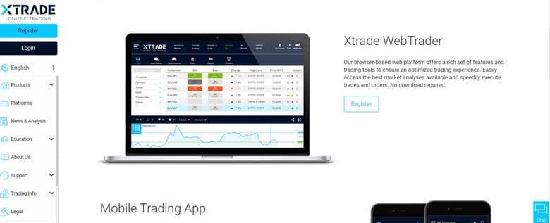 Xtrade Trading Platform