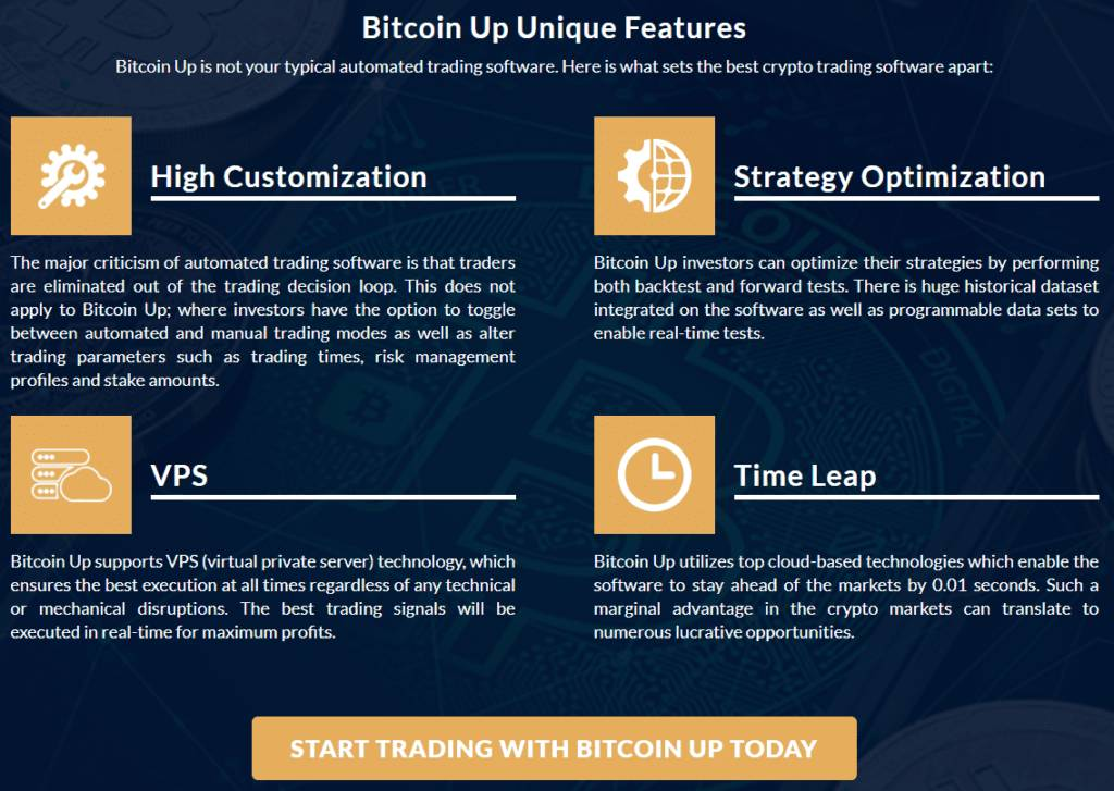 bitcoin up features