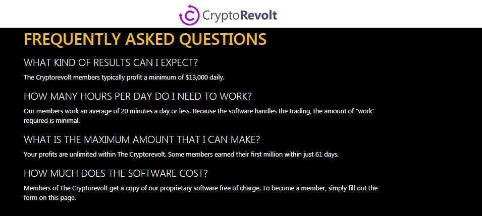 Informações adicionais sobre a Crypto Revolt