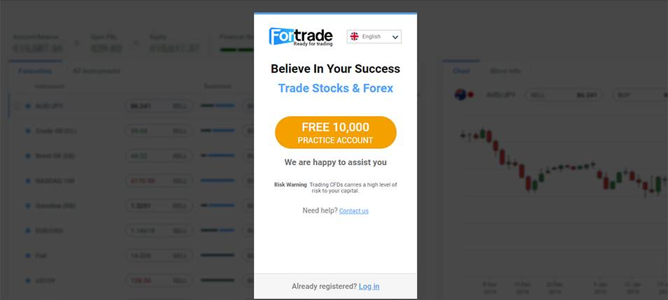 Fortrade Account Types