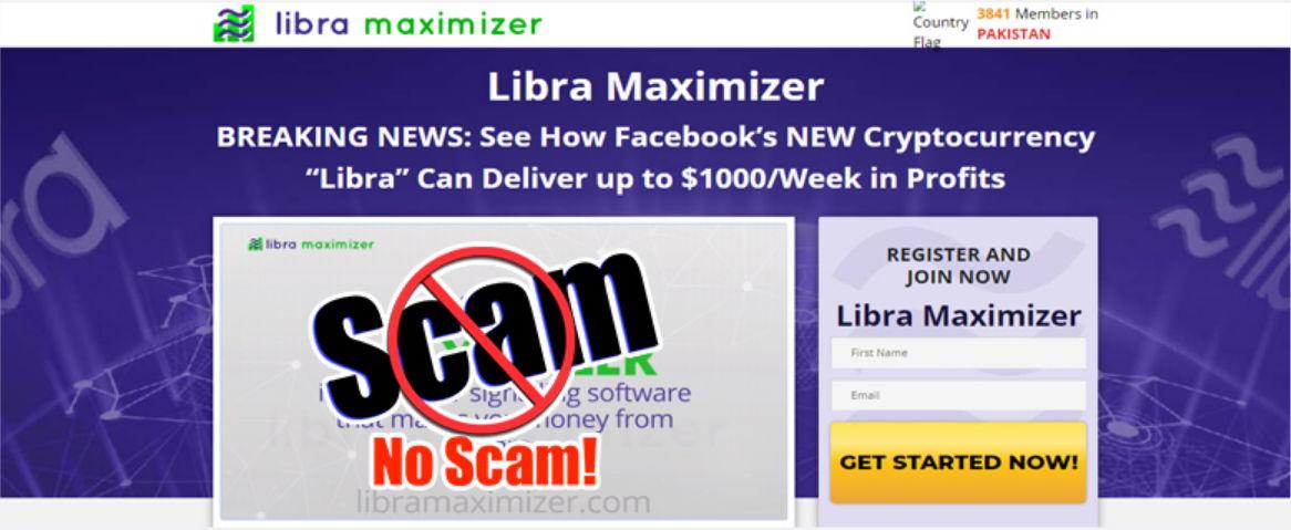 Estafa del maximizador de Libra