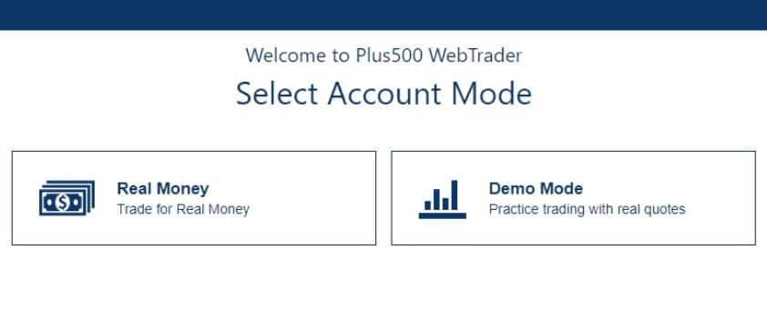 Plus500 - Kontotypen