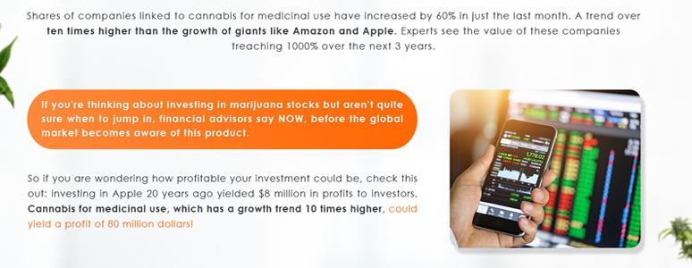 Shares of companies linked to cannabis for medicinal use have increased by 60% in just the last month.