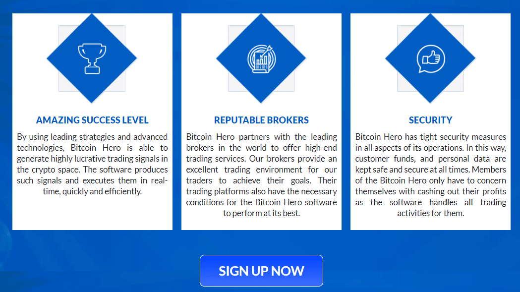 page d'accueil de Bitcoin Hero avec pc